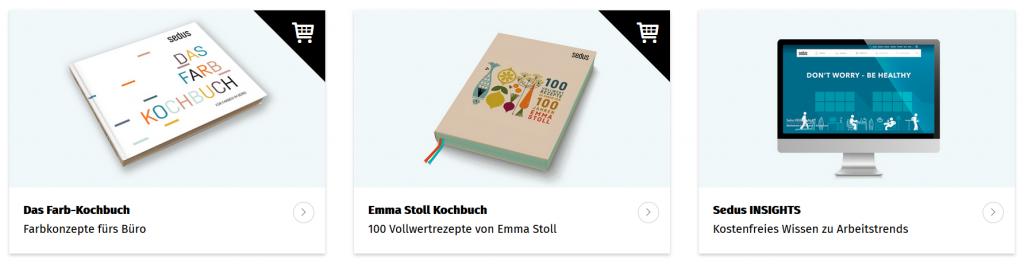 Knowledge Sharing: Vollwertkochbuch, Farbkochbuch und Trendmonitor Sedus INSIGHTS
