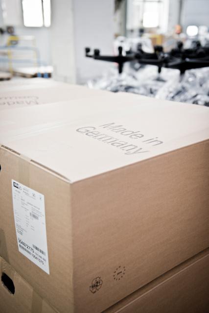 Verpackung für Stuhl