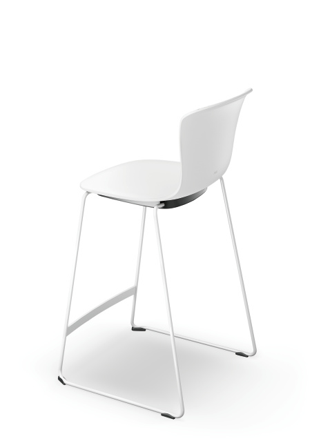 se spot stool Barstuhl zum Arbeiten_weiß Kufe