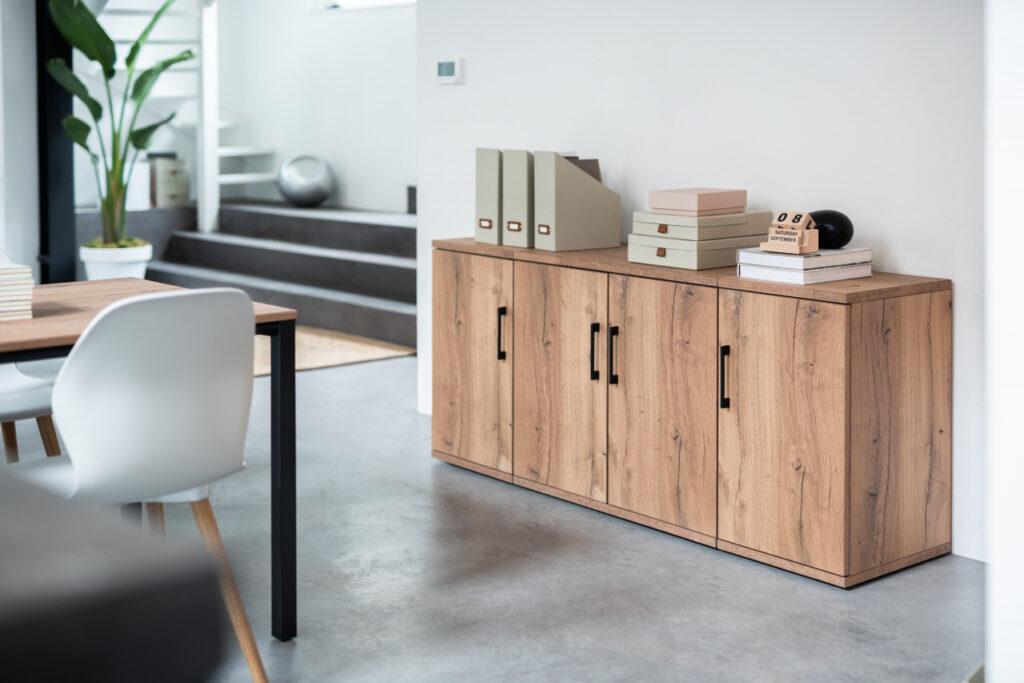 home-office einrichten mit stauraum